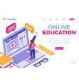 online distance education from home vector image