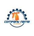 Painter logo vector image