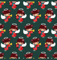 pattern pretty christmas angels starry night vector image vector image