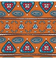 Pattern with ethnic motifs vector image vector image