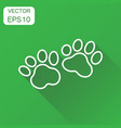 paw print icon business concept dog or cat vector image vector image