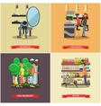 People shopping in a store concept posters vector image