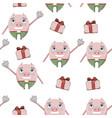 pig pattern beautifaul vector image