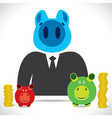 piggy businessmen with saving vector image