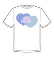 print for t-shirt with pride lgbt heart vector image vector image