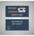 Professional and designer campsite card template vector image vector image