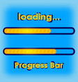 progress loading bar a blue vector image