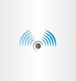radio waves logo icon vector image vector image