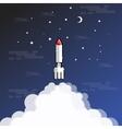 rocket blasted outline vector image
