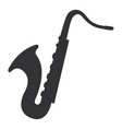 saxophone instrument isolated icon vector image vector image