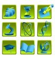 science and education icon set vector image vector image