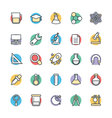 Science and Technology Cool Icons 4 vector image vector image