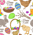 seamless pattern easter symbols vector image