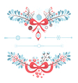 Set of Christmas and New Year decorative elements vector image vector image