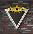 shining retro triangular light banner vector image