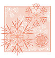 snowflakes abstract red backdrop vector image vector image