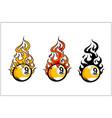 sport ball flame set 3