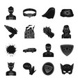 suit sign superman and other web icon in black vector image
