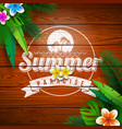 summer paradise holiday design with flower vector image vector image