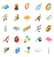 superior icons set isometric style vector image vector image