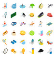 tennis game icons set isometric style vector image vector image