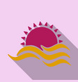 tropical sunset vintage beach print graphic design vector image vector image