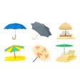 umbrella icon set cartoon style vector image vector image