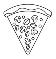 vegan pizza slice icon outline style vector image