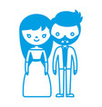 wedding couple icon vector image vector image