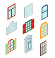 windows set isometric view vector image vector image