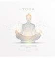 yoga in a lotus pose digitally drawn low poly vector image vector image