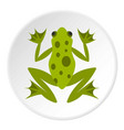 frog icon circle vector image