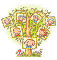 happy family tree in pictures vector image