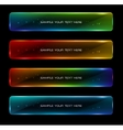 Abstract colorful glowing options vector image vector image