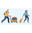 an elderly couple traveling vector image vector image