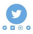 astana kazakhstan -10 july 2020 twitter icon vector image vector image