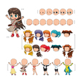 Avatar girl isolated objects vector image