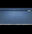 background denim blue jeans realistic texture vector image