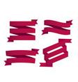 banner set of ribbon tag image vector image