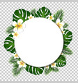banner with palm and monstera tree leaf vector image vector image