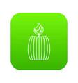 big icon green vector image vector image