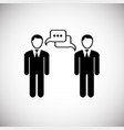 business negotiation on white background vector image