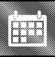 calendar sign icon hole in vector image