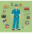 Car repair service concept with tuning diagnostics