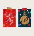 christmas and new year tags and labels vector image vector image