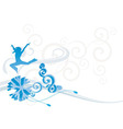christmas ornamental picture vector image vector image