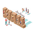 climbing wall isometric background vector image vector image