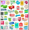 collection colorful sale stickers and tags 01 vector image vector image