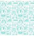 dentist orthodontics blue seamless pattern with vector image