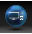 Desktop Computer Icon pc symbol laptop vector image vector image